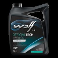 Фотография упаковки моторного масло WOLF OFFICIALTECH 5W30 С4